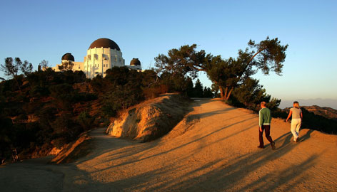 In Los Angeles: The Griffith Observatory is a destination for all kinds of stargazers. Observatory Hill, one of the highest points in the city, has starred in Rebel Without a Cause and The Terminator.