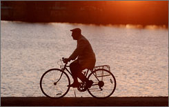 In Cambridge, Mass.: The 17-mile Charles River path offers a vibrant, friendly ride.