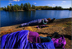 Minnesota's Boundary Waters Canoe Area Wilderness features more than 1,000 lakes and more than 1,500 miles of canoe routes.