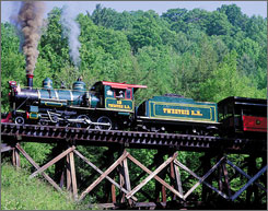 On track: The Tweetsie Railroad will stay on track through 2010 with carnival rides and special events throughout the season.