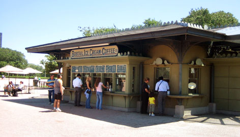 In the Windy City: Bobtail Ice Cream Co. kiosks on Lakeshore Drive (there are two other locations) also sell Chicago-style hot dogs.