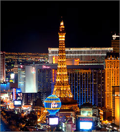 The real city that never sleeps: The party never stops in Las Vegas, where alcohol is served 24-7.
