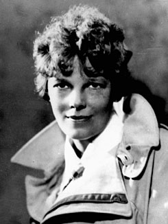 Amelia Earhart, shown in this 1932 file photo, was flying a twin-engine Lockheed Electra when she vanished over the South Pacific in 1937 during her bid to become the first woman to fly around the world.