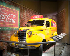 It?s the real thing: This 1939 Chevrolet panel van was once used for Coca-Cola deliveries.