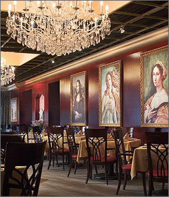 In Providence: L'Epicureo at the Hotel Providence features Renaissance-inspired decor. Guests also can dine al fresco.