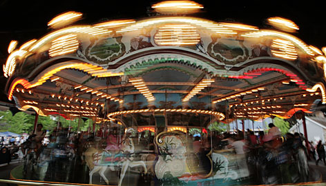 Around and around: The Carousel is one of the oldest attractions at Hersheypark.