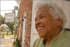 """""""Life goes on, and you have to stay in the struggle"""": Chef Leah Chase at her restaurant, Dooky Chase?s, on Orleans Avenue in the Treme neighborhood of New Orleans."""
