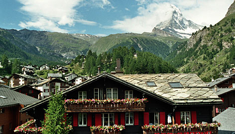 Pretty as a picture: The Matterhorn may not be the tallest mountain in the world, but it's certainly one of the most photogenic.
