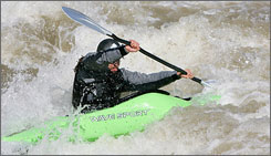Go with the flow: Denver visitors can rent kayaks and head-to-toe gear from Confluence Kayaks.