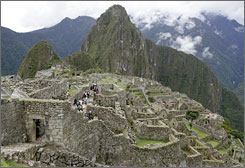 High risk: Peru's Machu Picchu was listed among the world's most endangered tourist places due to the pressures of economic development.
