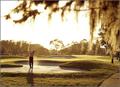 In Orlando: Disney's Magnolia Golf Course boasts a very special bunker on the sixth hole in the shape of you-know-who.