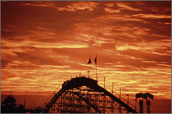 The Giant Dipper: The roller coaster opened in 1924 and cost 15 cents a ride. Today, it's $4.50.