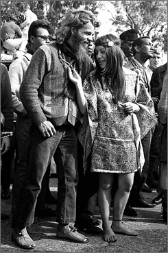 Back to 1967: Hippies hang out in San Francisco's Golden Gate Park on Aug. 8.