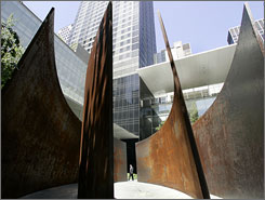 In New York: Richard Serra's sculpture, Intersection II, will be on display at the Museum of Modern Art.