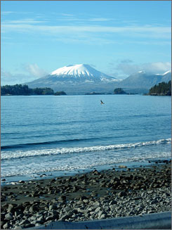 In Sitka, Alaska: The Mount Edgecumbe volcano looms in the distance. Fish while taking in majestic views and a blend of Tlingit culture and Russian influence.