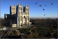 Towering landmark: The National Cathedral in Washington, D.C., was started in 1907 and completed in 1990.