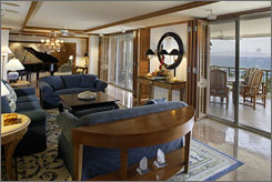 Wake up in this two-bedroom, 5,500-square-foot suite at the Grand Wailea Resort in Haiwaii to views of the Pacific Ocean. Cost per night: $15,000.