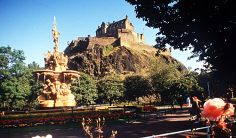 Edinburgh Castle  site of the throne on which ancient Scottish kings were crowned  is one of several landmarks in Scotland that Harry Potter fans will recognize.
