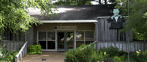 The Jim Henson Delta Boyhood Exhibit is located on Southeast Deer Creek in Leland, Miss.