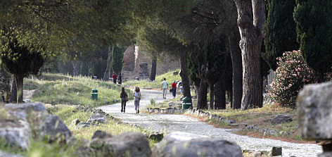 Sites along the Appian Way include catacombs, the Church of Domine Quo Vadis and Rome's oldest golf course, the Circolo del Golf di Roma.