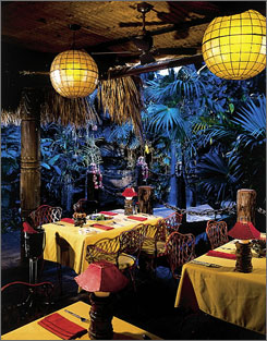 This is a photo from Mai-Kai, a Polynesian restaurant in Fort Lauderdale.