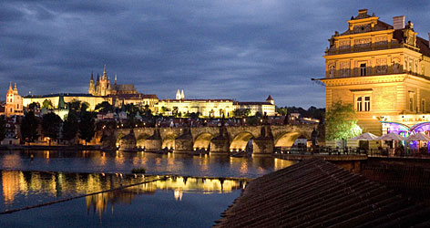 Prague's Charles Bridge show during festivities last month commemorating the 650th anniversary of its foundation. The foundation stone was laid with the assistance of Czech King Charles IV on July 9, 1357.