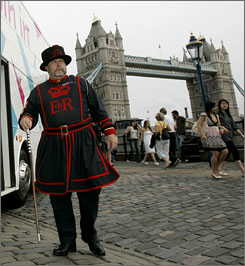 Tower Bridge, anyone? American visits to Britain are down 6% this year.