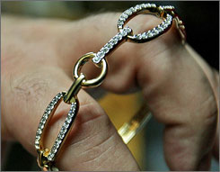 Lost:This bracelet, thought to be worth up to $4,000, was left behind at Lambert-St. Louis International Airport in January.
