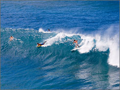 Canoes, Oahu: Surfing the world's most popular surf spot is like standing up on a busy highway where nobody knows how to drive, says Toru Yamaguchi of Surf Garage in Honolulu.