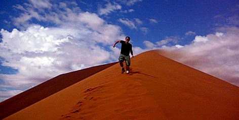 Shimmy in Namibia: The sand dunes in Sossusvlei, which are in Africa's largest conservation area, are often called the highest in the world.
