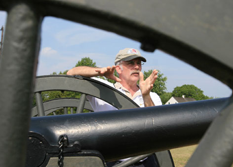 Up close and personal: Thomas G. Clemens is part of a guide program, run by a local non-profit group, that is offering customized tours of the famous Civil War battlefield sites.