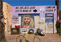 Photographer Sam Fentress snapped this building in San Diego for his recent book of roadside religious images across America.