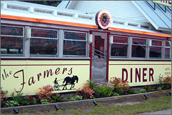 "The newly opened Farmers Diner in Quechee, Vt., offers ""the quintessential Vermont experience."""