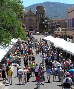 In Santa Fe:This year's Spanish Market will take place Dec. 1 and 2. The biannual event features the craftsmanship of 100 local Hispanic artisans working in such traditional forms such as bonework, hide painting and basketry, as well as art demonstrations, music and regional food.