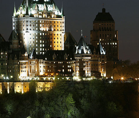 La Chateau Frontenac: The grand hotel, high over the Old City, boasts commanding views of the St. Lawrence River.