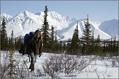 Actor Emile Hirsch appears in many picturesque scene such as this in Into the Wild.