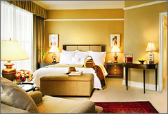 Starting from $200 a night, the basic rooms of the Ritz-Carlton in Kuala Lumpur, Malaysia, feature city skyline views, butler service, flat screen TVs, marble baths with separate soaking tubs, iPod systems and a full breakfast. The on-site spa also  has an extensive offering of treatments.