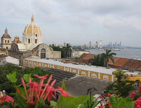 A rooftop view of Cartagena's Old City: U.S. cruise lines have returned to the Colombian port, new boutique hotels are opening and real estate prices are rising.