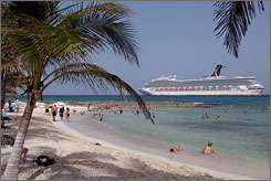 A port call in Costa Maya, Mexico, provides Carnival Glory guests an excellent opportunity to enjoy a Mexican beach.