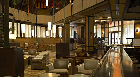 Hip, cool, trendy  and quieter: The Church Lounge at the Tribeca Grand Hotel in New York installed sound-absorbing wooden panels and thick carpeting to quiet the racket. The hotel's guestrooms also come with a special sound-masking system.