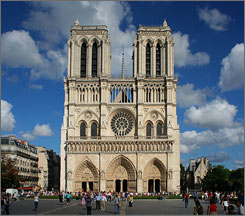 The Notre Dame de Paris is France's most visited landmark, receiving 12 million admirers a year. Instead the multitudes tend to leave the smaller Saint Chapelle in relative peace with its stunning spire and stained glass depiction of the Apocalypse.