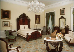 The White House: President Lincoln died across the street from the Ford Theater that fateful night, but some aver that his melancholy spirit roams the halls outside his bedroom.