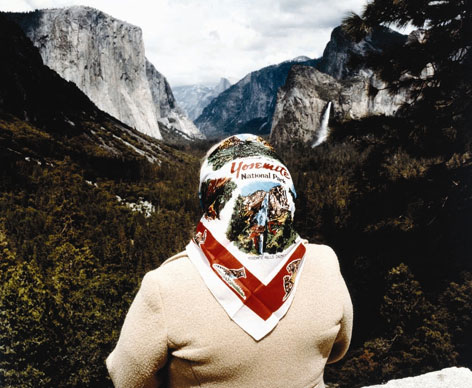"""Woman with a Scarf at Inspiration Point, Yosemite Valley, 1980"" by Roger Minick, will be among the 140 paintings, photos, American Indian baskets and other artwork  on display at ""Yosemite: Art of an American Icon."" The show is running through mid-January at the Nevada Museum of Art."
