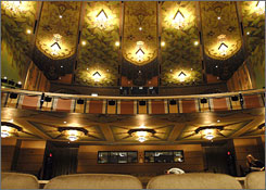 Rich in an art deco motif, the 1630-seat Martin Woldson Theater at The Fox is located in the heart of downtown Spokane, Wash.