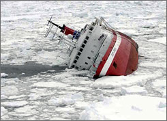 The MS Explorer cruise ship sinks hours after hitting an iceberg off the coast of the Antarctic. The number of visitors to Antarctica has grown rapidly in the past decade, raising concerns about the environmental impact of travel in the region.