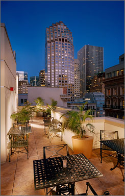 Going green: San Francisco's Orchard Garden Hotel gets high marks.
