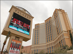 "Now playing: The Palazzo features suites, chichi chefs and ""Jersey Boys."""