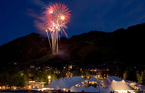 In Aspen: Fireworks light up the 2007 Food & Wine Classic. Tickets are $1,050 before March 15.