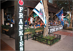 In Dallas: At Frankie's Sports Bar and Grill, the kitchen, which is open till midnight, cooks up top-notch and over-the-top fare. Brunch is served on Saturdays and Sundays.
