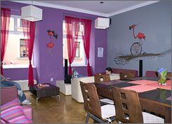In Poland: The winning Flamingo Hostel.